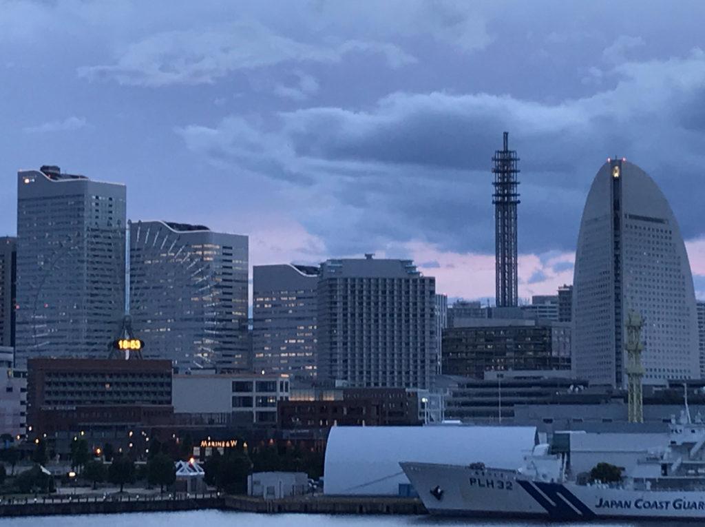 大桟橋から見る桜木町