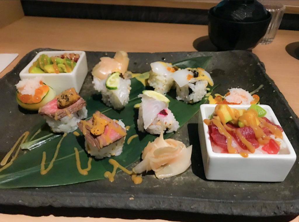 みなとみらいでお寿司