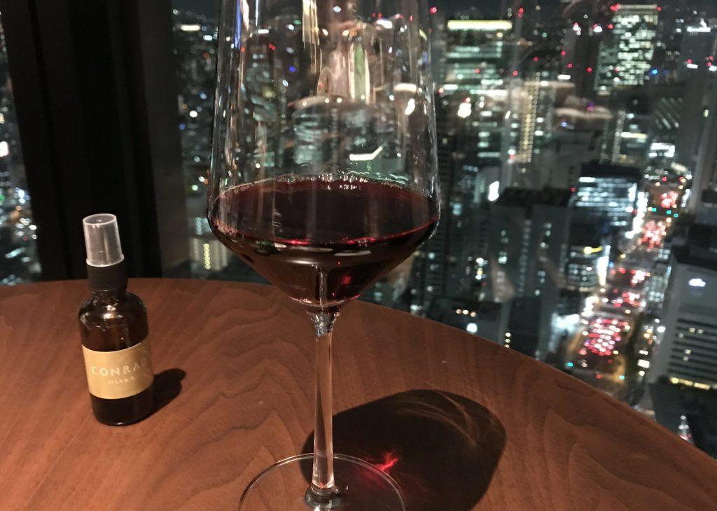 コンラッド大阪の赤ワイン