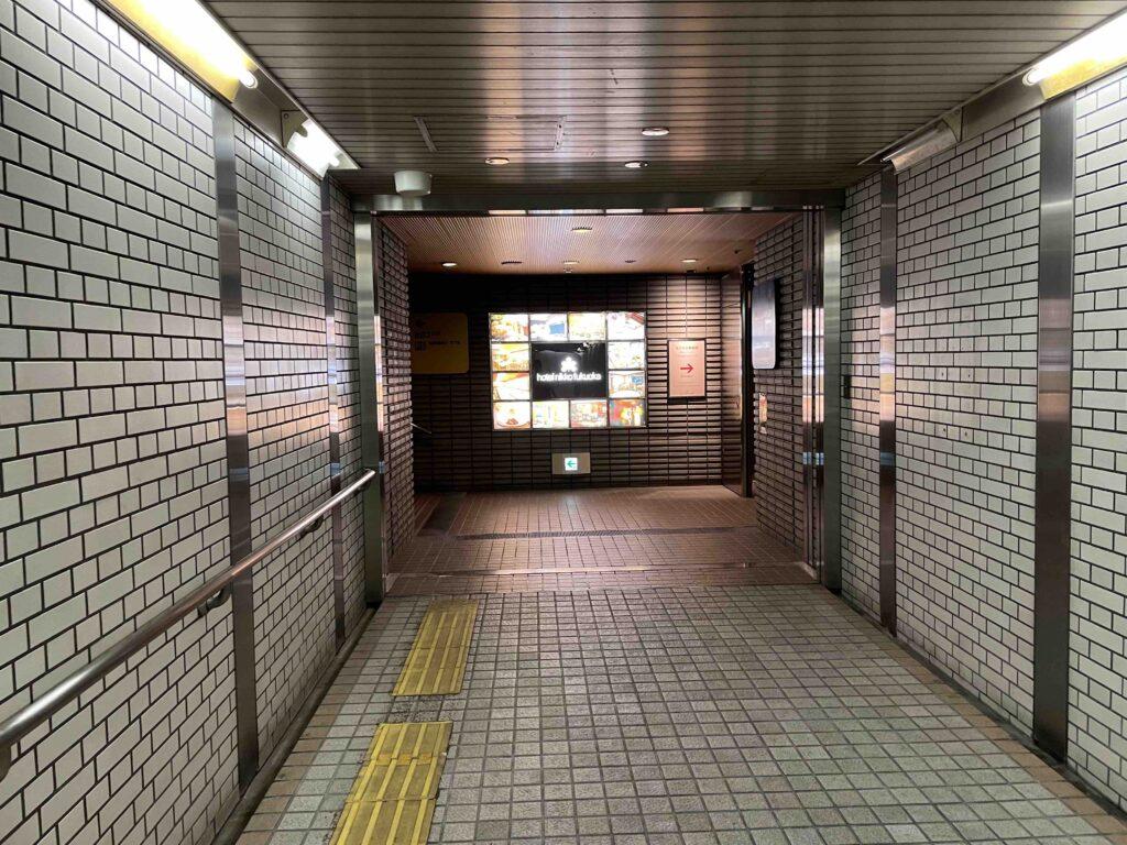 ホテル日航福岡は地下からアクセスできる
