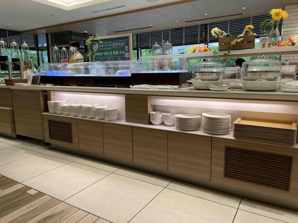 ホテル日航福岡の朝食会場の様子