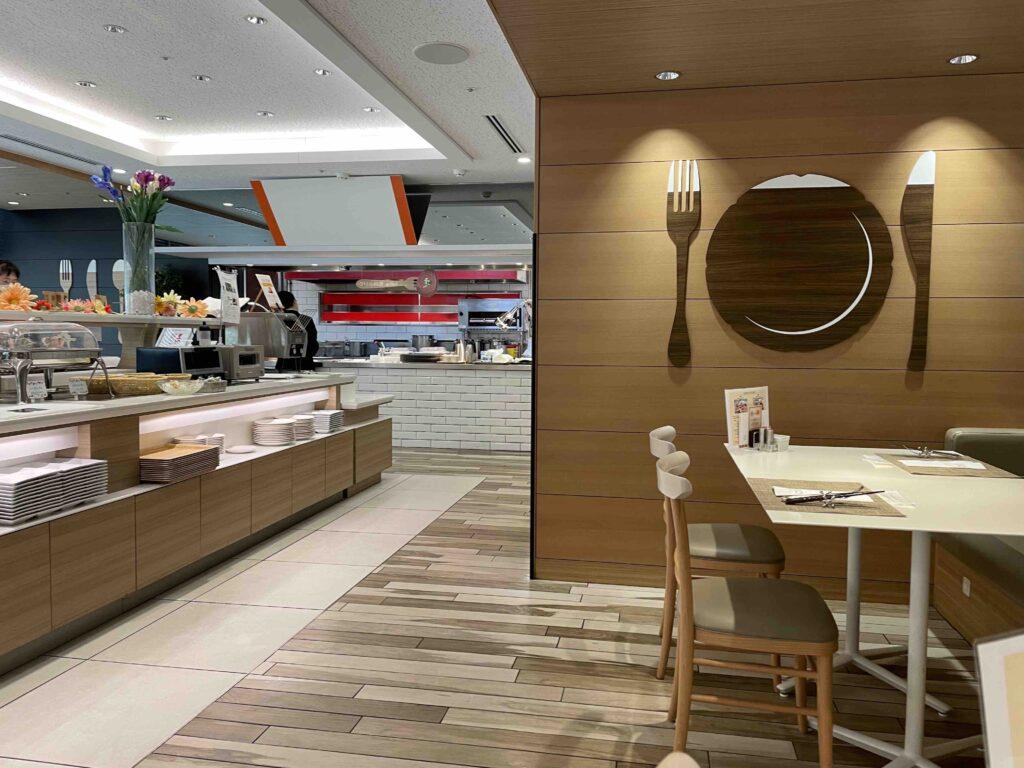 ホテル日航福岡のレストランの内装