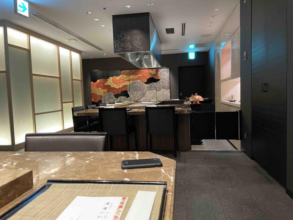 ホテル日航福岡の銀杏の様子