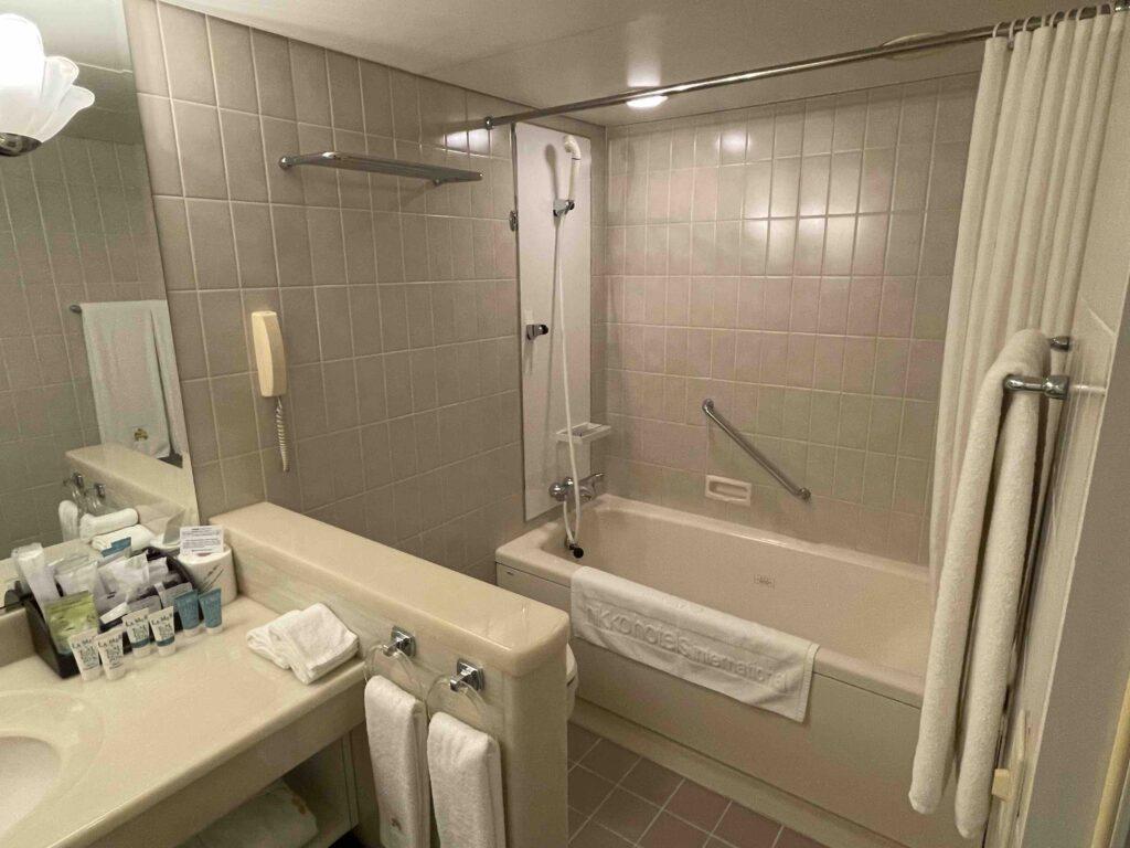 ホテル日航福岡のトイレとお風呂