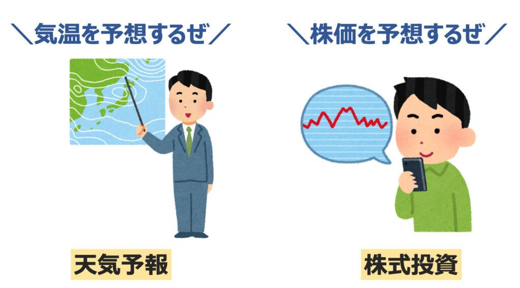 短期投資と長期投資を天気予測と株式投資に例える