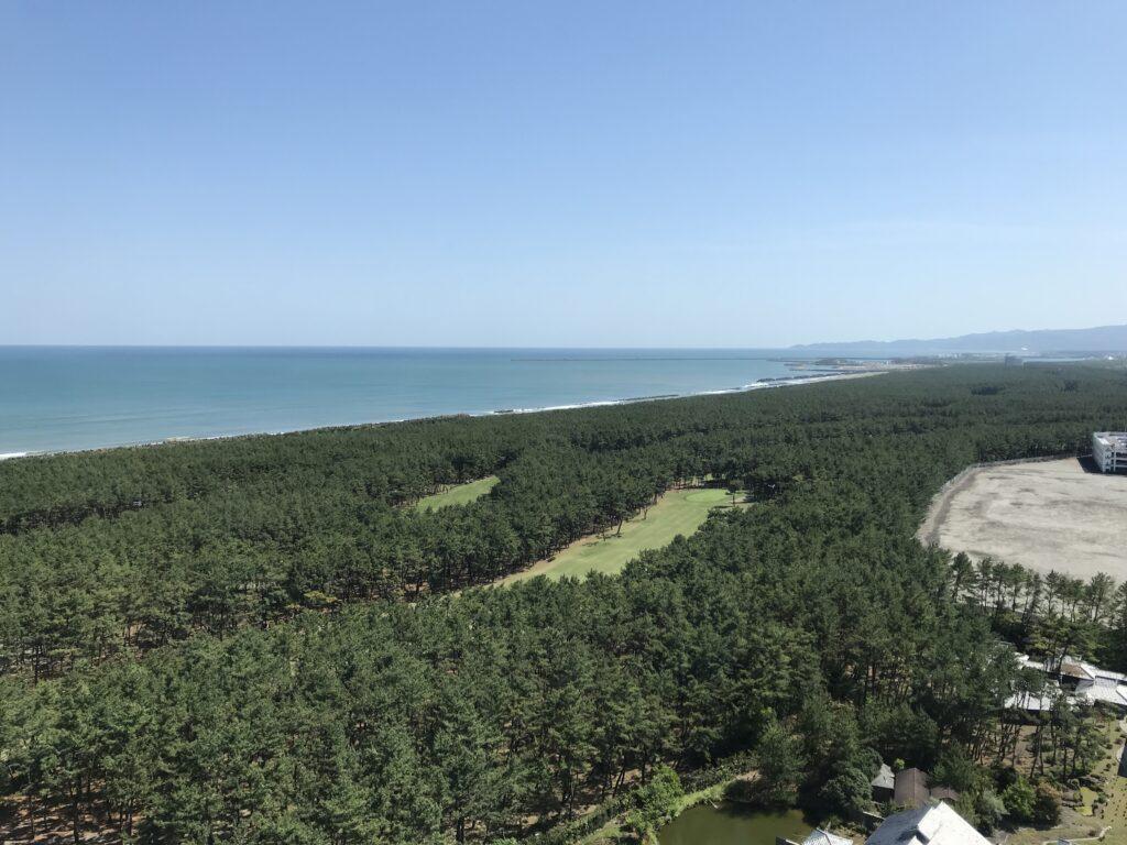 シェラトングランデ宮崎からの景色