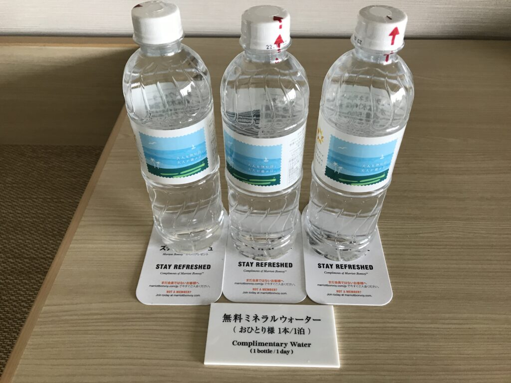 シェラトングランデ宮崎のお水