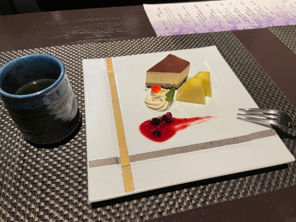 箱根仙石原【風雅】露天風呂付き客室はカップル温泉旅行にオススメ:夕食デザート